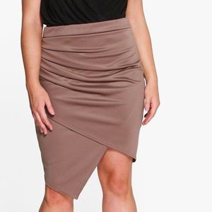 Ruched Wrap Midi Skirt/never worn